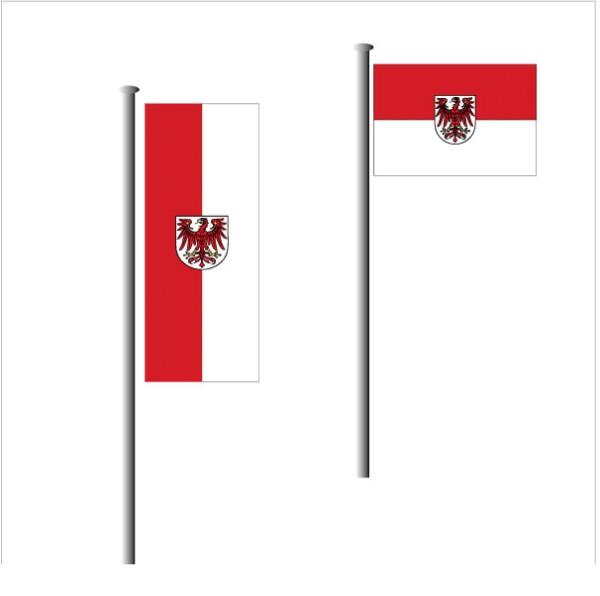 Brandenburg Fahne-  Qualitäts Flagge aus hauseigener Produktion in allen Standard Größen