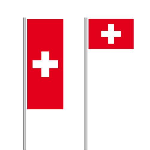 Schweiz Nationalflagge im Hoch- und Querformat