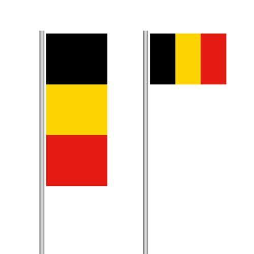 Belgien-Fahne im Hoch- und Querformat