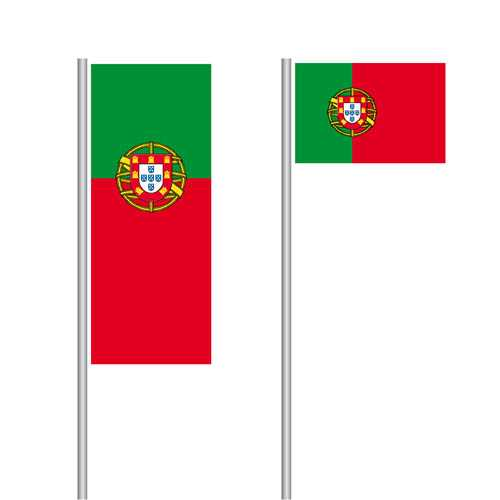 Portugal Nationalflagge im Hoch- und Querformat