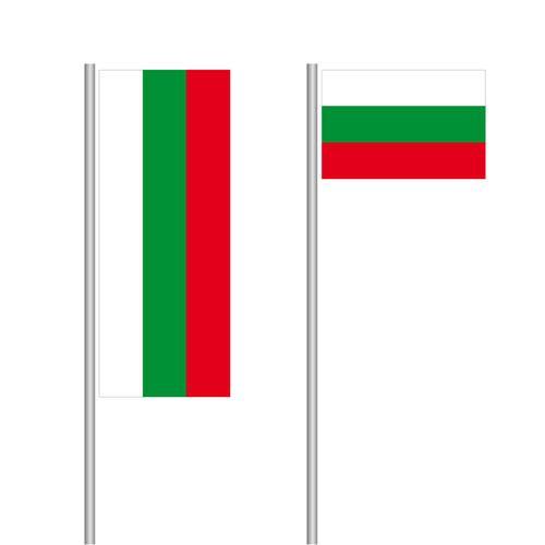 Bulgarien-Fahne im Hoch- und Querformat