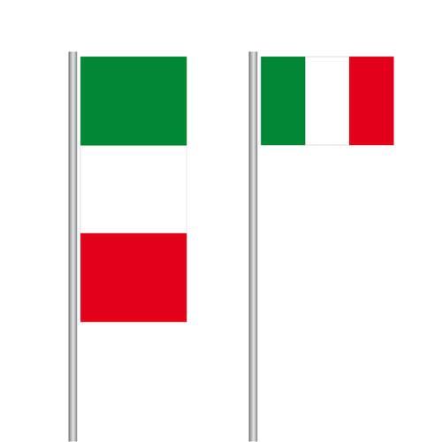 Italien Nationalflagge im Hoch- und Querformat