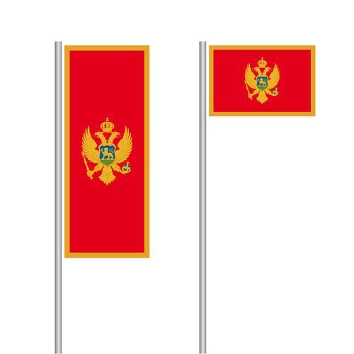 Montenegro Nationalflagge im Hoch- und Querformat