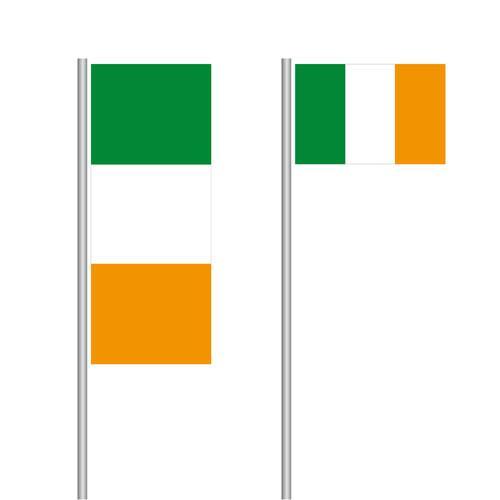 Irland Nationalflagge im Hoch- und Querformat