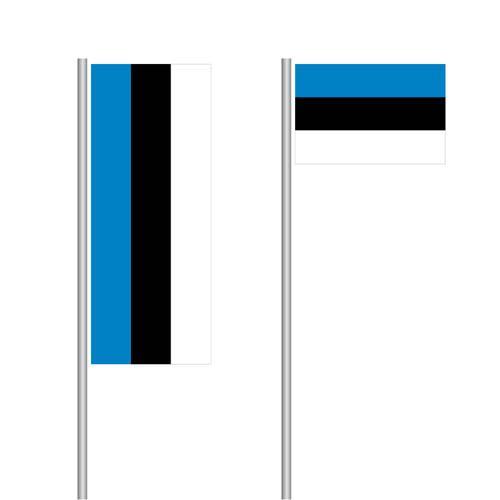Estland-Fahne im Hoch- und Querformat