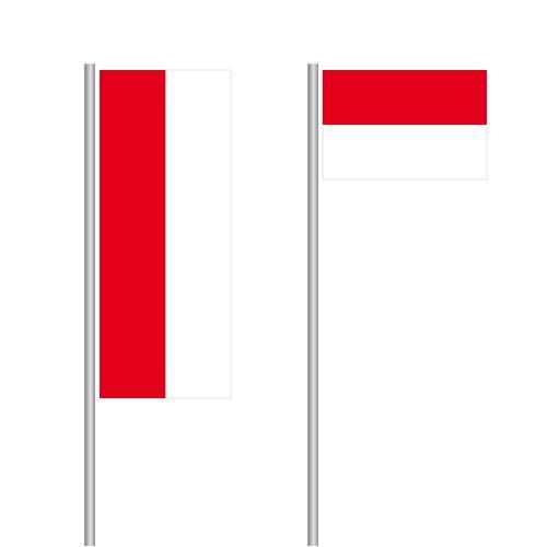Monaco Nationalflagge im Hoch- und Querformat