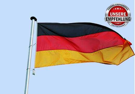 Deutschland Fahne in aller Größen - genäht aus Fahnenstoff