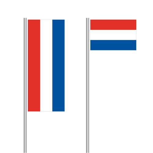 Niederlande Nationalflagge im Hoch- und Querformat