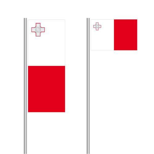 Malta Nationalflagge im Hoch- oder Querformat