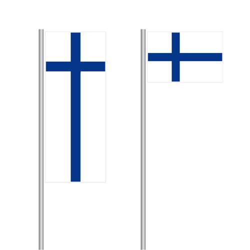 Finnland Fahne im Hoch- oder Querformat