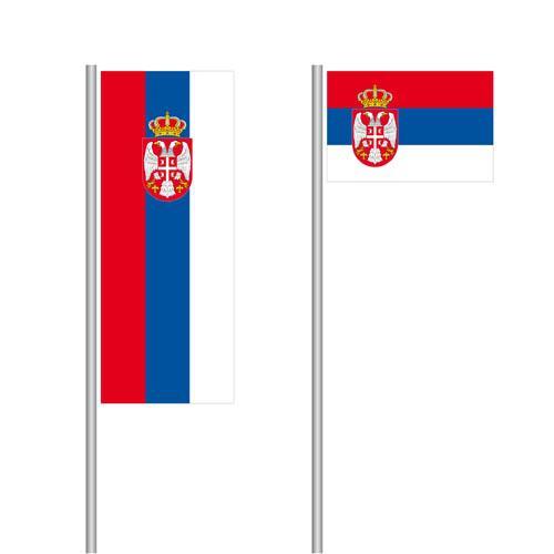 Serbien Nationalflagge im Hoch- und Querformat