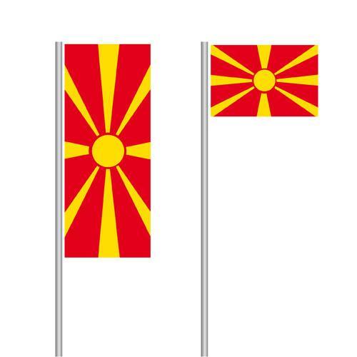 Mazedonien Nationalflagge im Hoch- und Querformat