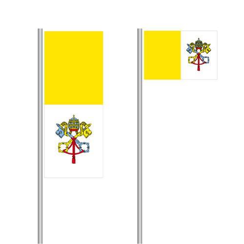Vatikan Nationalflagge im Hoch- und Querformat