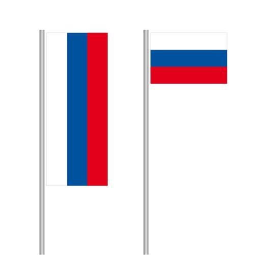 Russland Nationalflagge im Hoch- und Querformat