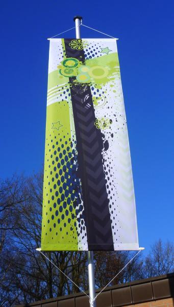 Bannerfahne 100 cm x 400 cm inkl. Druck