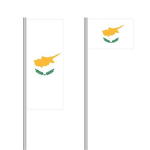 Zypern Nationalflagge im Hoch- und Querformat