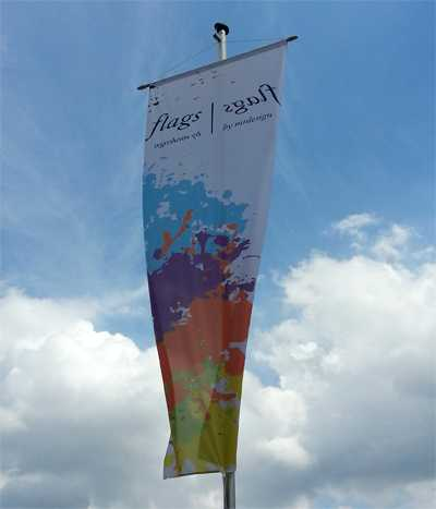 Bannerfahne 120 cm x 450 cm mit Hohlsaum Oben