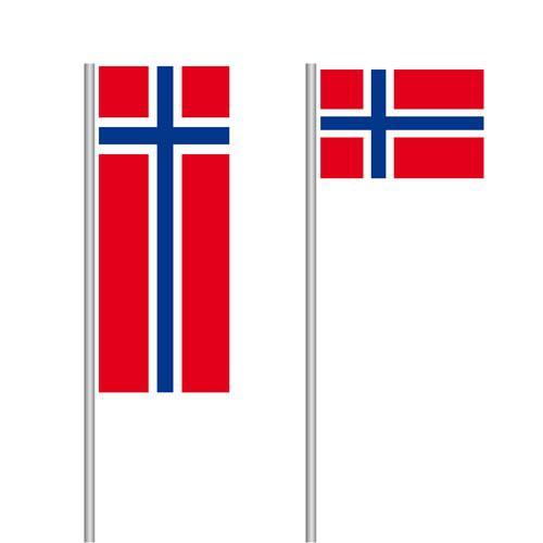 Norwegen Nationalflagge im Hoch- und Querformat