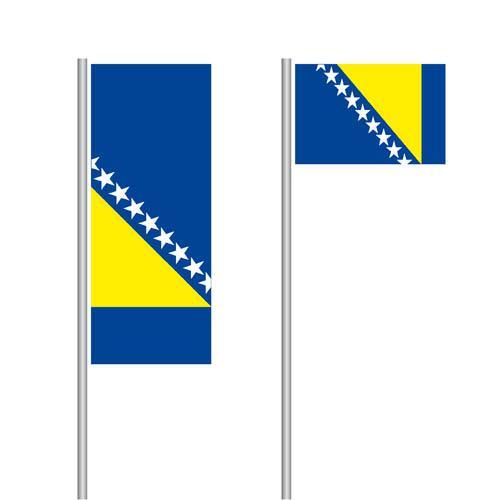 Bosnien und Herzegowina Nationalflagge im Hoch- und Querformat