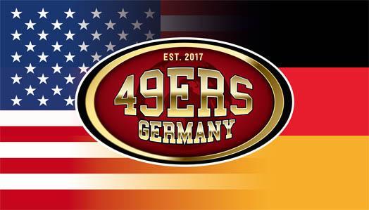 49er USA-GER Fahne 120 x 66 cm