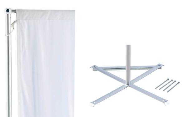 Fahnenmast mit Standkreuz