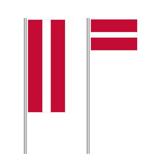 Lettland Nationalflagge im Hoch- und Querformat