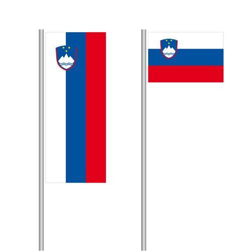 Slowenien Nationalflagge im Hoch- und Querformat