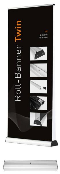 Roll Up Twin mit beidseitiger Bannerhalterung wahlweise mit eigenem Motiv