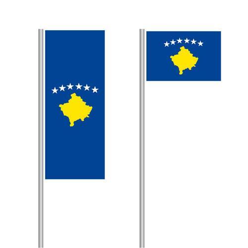 Kosovo Nationalflagge im Hoch- und Querformat