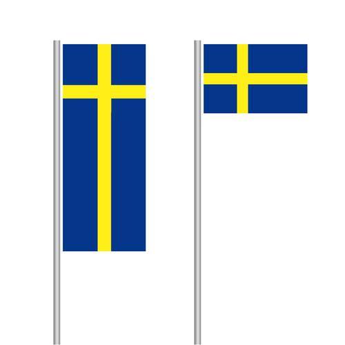 Schweden Nationalflagge im Hoch- und Querformat