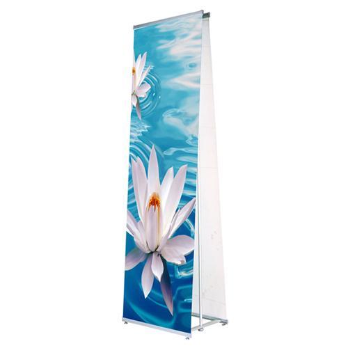 L - Banner Ständer 90 x 200 cm Beidseitig