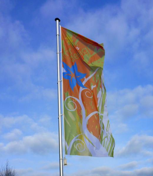 Flaggen zum hissen 100 x 200 cm mit eigenem Druckmotiv auf Flagmesh