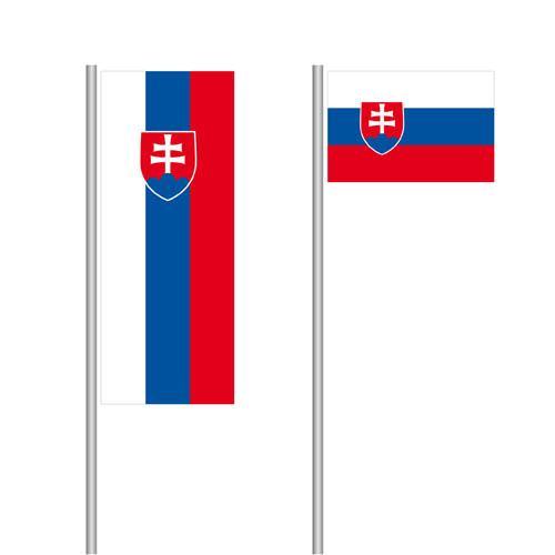 Slowakei Nationalflagge im Hoch- und Querformat
