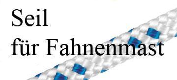 Seil für Fahnenmast Ø 4, 5, oder 6 mm