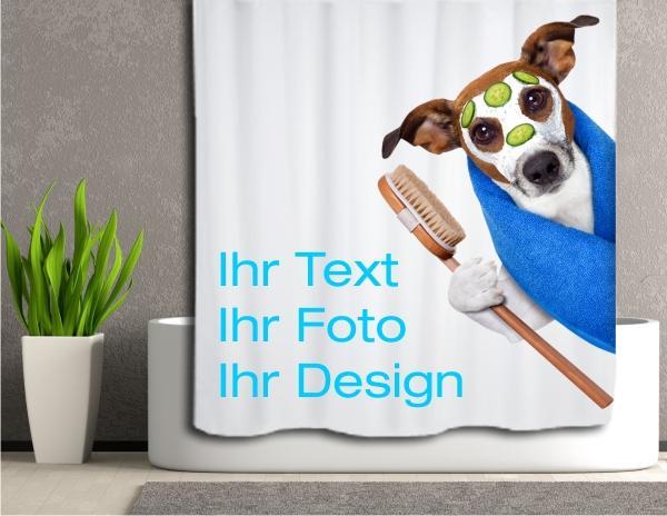 duschvorhang mit eigenem design oder foto bedruckt alle gr en sind frei w hlbar. Black Bedroom Furniture Sets. Home Design Ideas