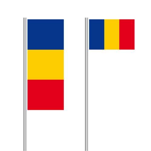 Rumänien Nationalflagge im Hoch- und Querformat