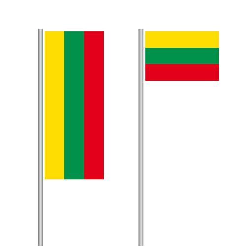 Litauen Nationalflagge im Hoch- und Querformat