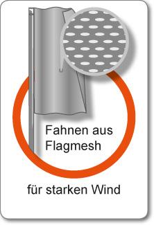 Fahnen Flagmesh mit Hohlsaum